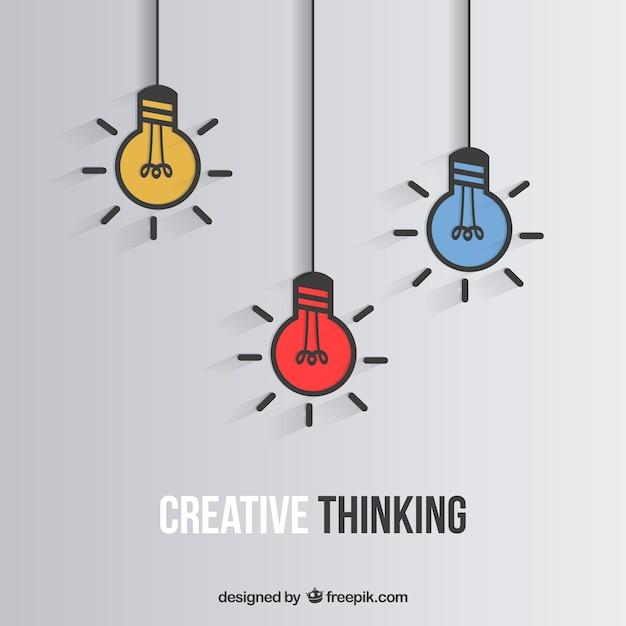 Creatief denken Gratis Vector
