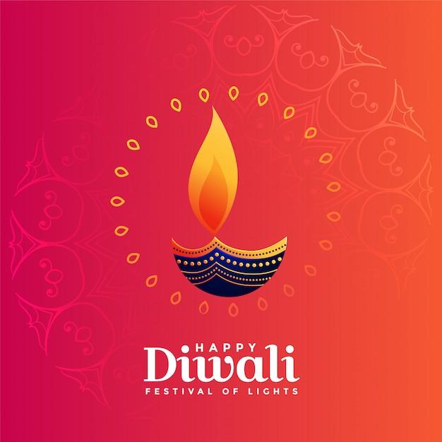 Creatief diya ontwerp voor diwali festival Gratis Vector