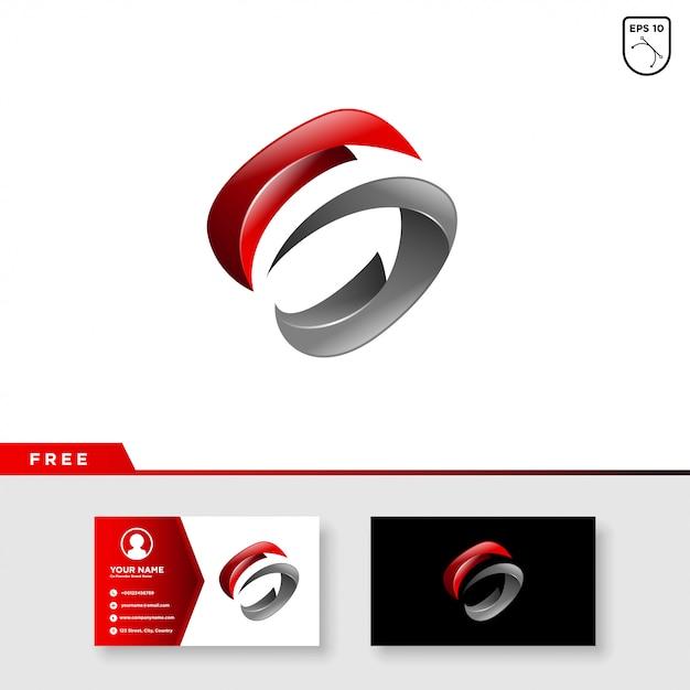 Creatief embleem van brief s Premium Vector