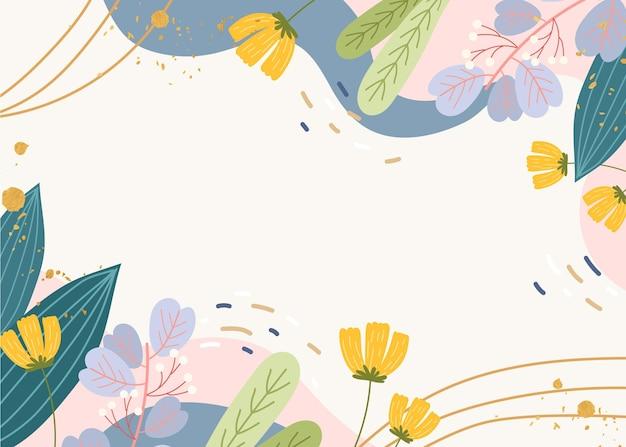 Creatief getekend lente behang Gratis Vector