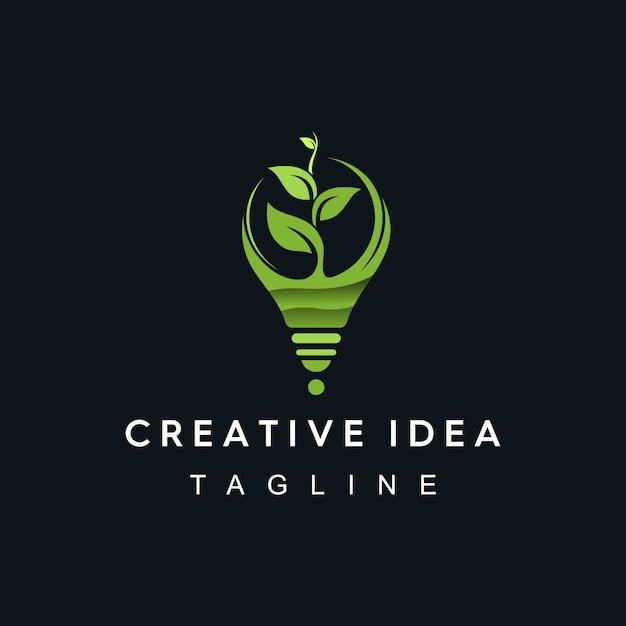 Creatief idee-logo Premium Vector