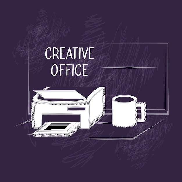 Creatief kantoorontwerp Premium Vector