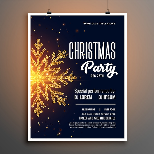Creatief kerstfeest flyer cover sjabloonontwerp Gratis Vector