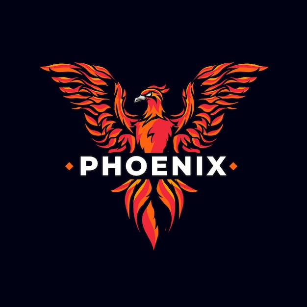 Creatief krachtig phoenix-logo Gratis Vector