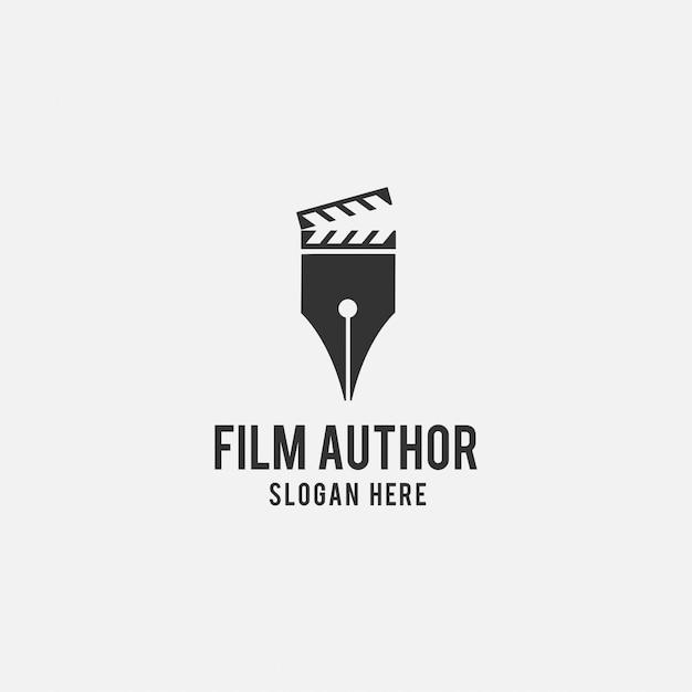 Creatief logoontwerp voor film Premium Vector
