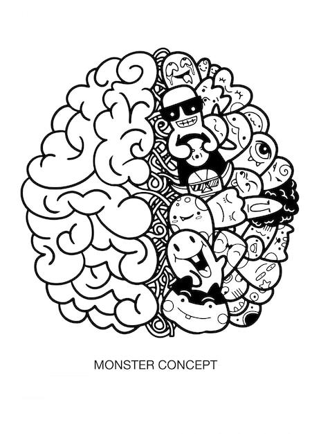 Creatief menselijk brein Premium Vector