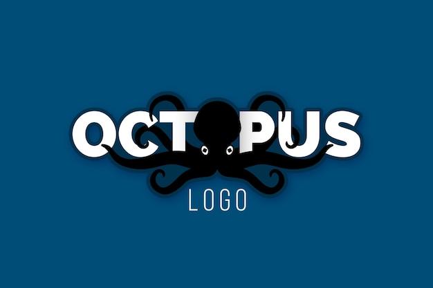 Creatief octopus logo ontwerp Gratis Vector
