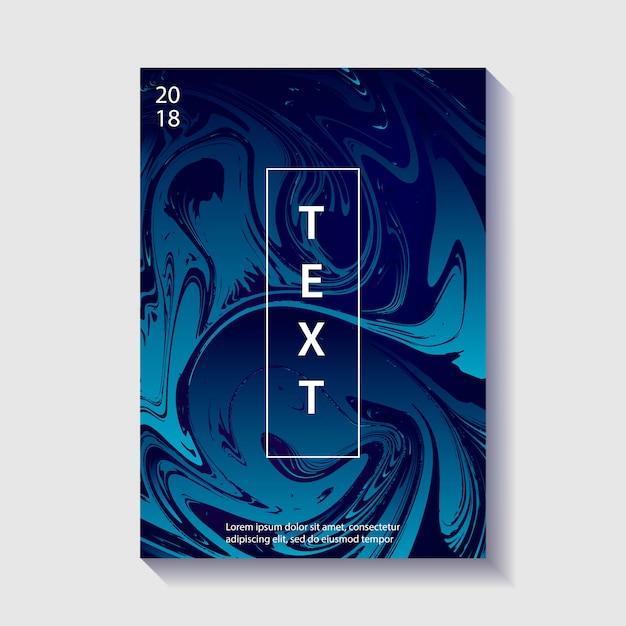 Creatief ontwerp poster met marmering. Premium Vector