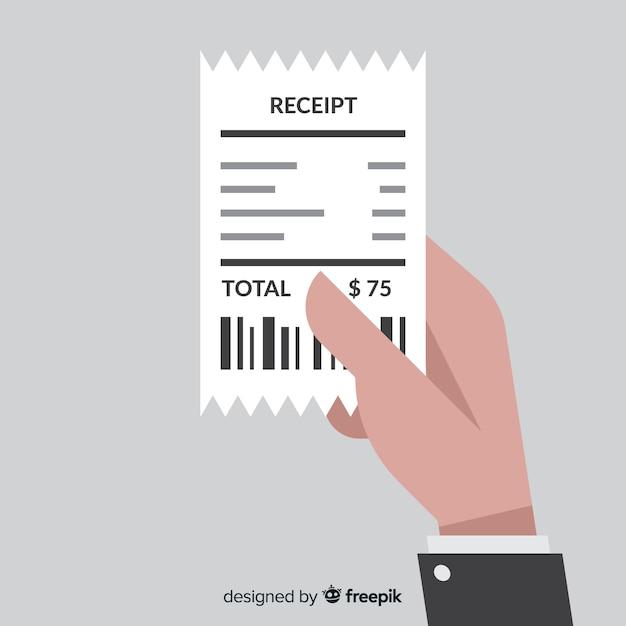 Creatief, plat betalingsbewijs Gratis Vector