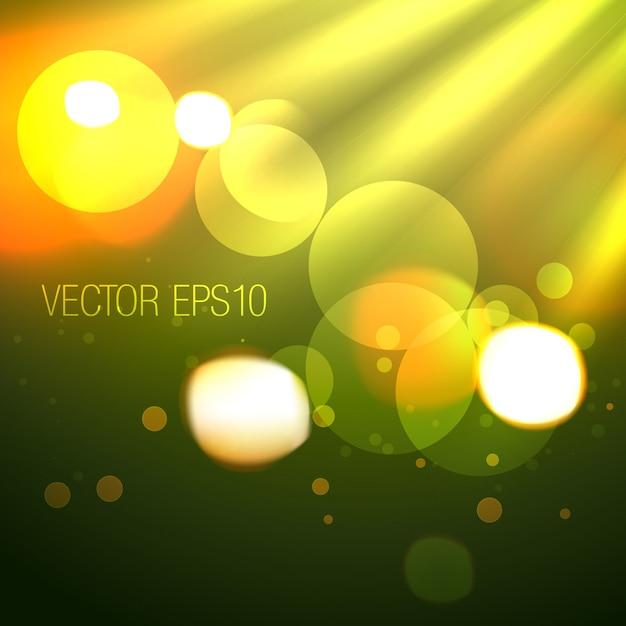 Creatieve achtergrond van bokehlichten Premium Vector