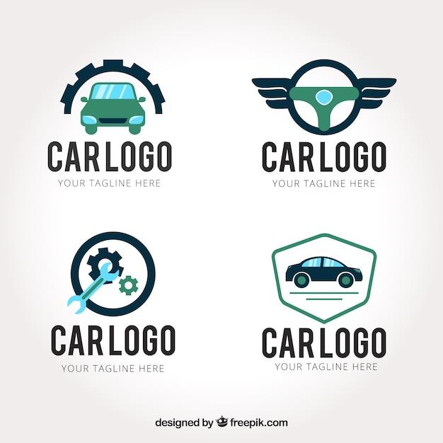 Creatieve auto logo set Premium Vector