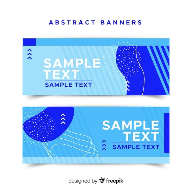 Creatieve banners met samenvattingsvormen Gratis Vector