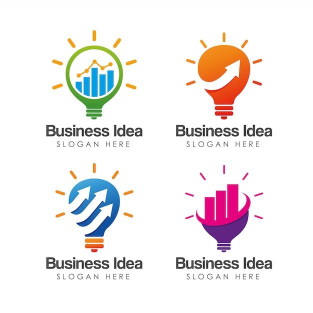 Creatieve business idee logo sjabloon Premium Vector