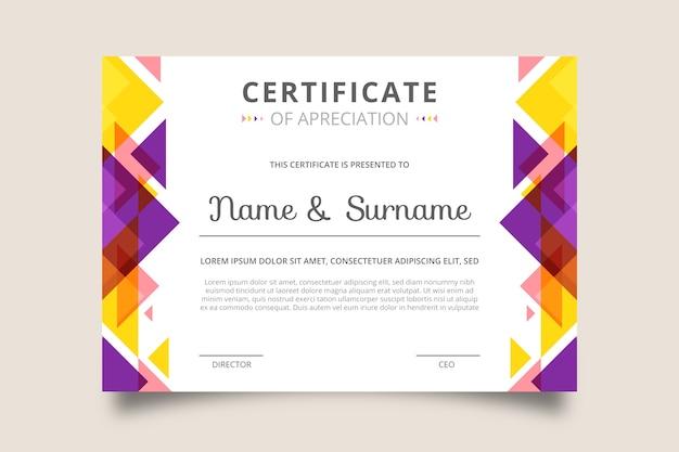 Creatieve certificaat van waardering award Gratis Vector