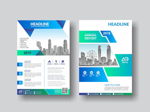 Creatieve cover lay-out brochure folder voor evenement Premium Vector