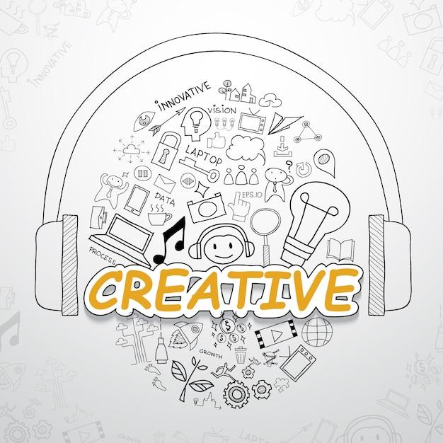 Creatieve elementen collectie Gratis Vector