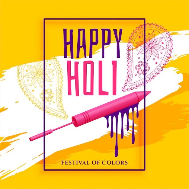 Creatieve gelukkige holi festival groet achtergrond Gratis Vector