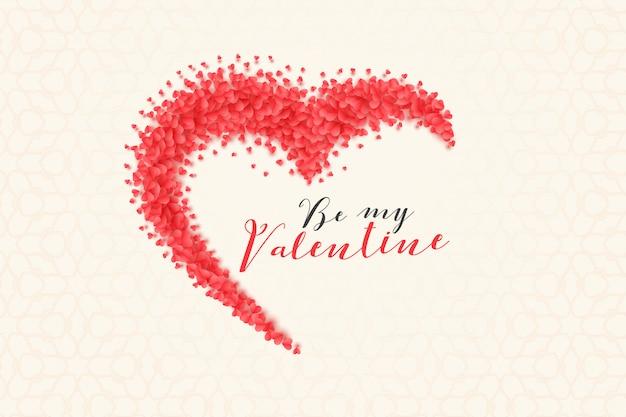 Creatieve hartenachtergrond voor valentijnskaartendag Gratis Vector