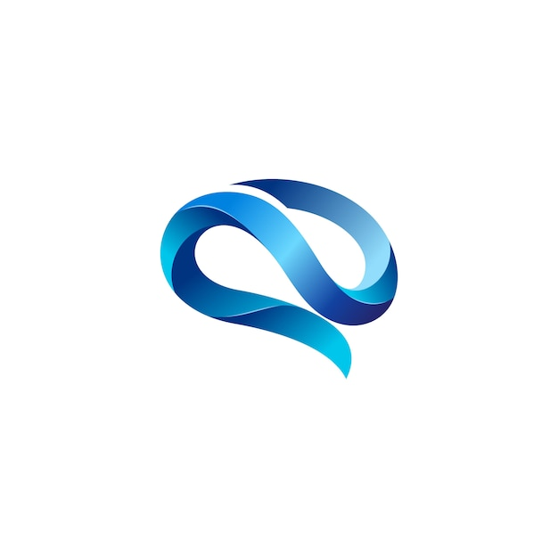 Creatieve hersenen logo stock vector Premium Vector