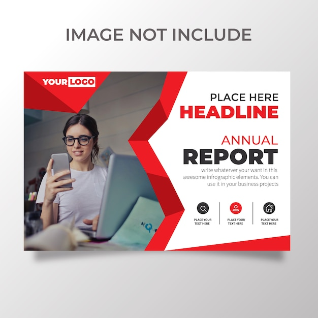 Creatieve horizontale flyer-sjabloon Premium Vector