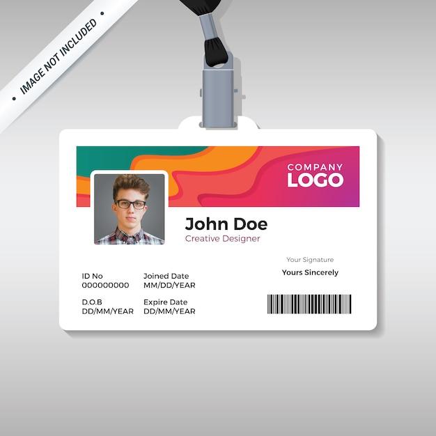 Creatieve id-kaartsjabloon Premium Vector