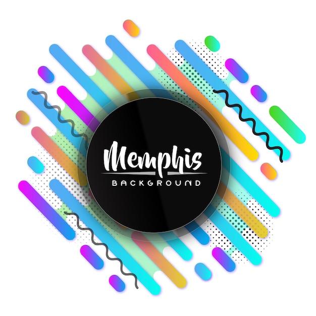 Creatieve kleurrijke moderne memphis banner achtergrond Premium Vector