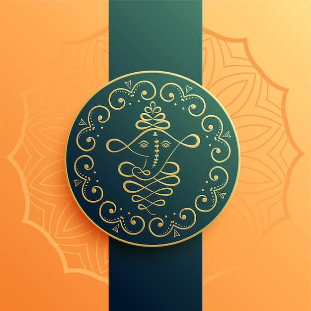 Creatieve lord ganesha artistieke achtergrond Gratis Vector