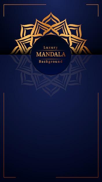 Creatieve luxe mandala met gouden Premium Vector