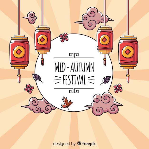 Creatieve medio herfst festival achtergrond Gratis Vector