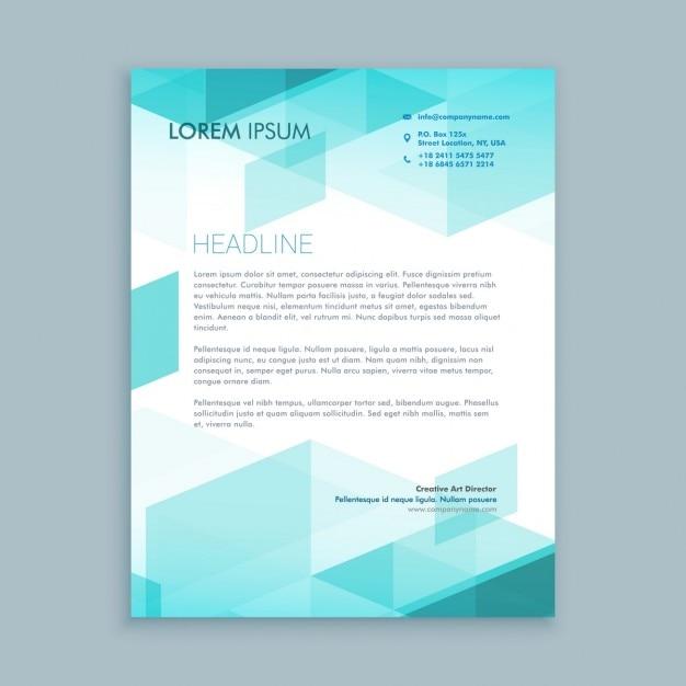 Creatieve, moderne briefpapier met abstracte vormen Gratis Vector