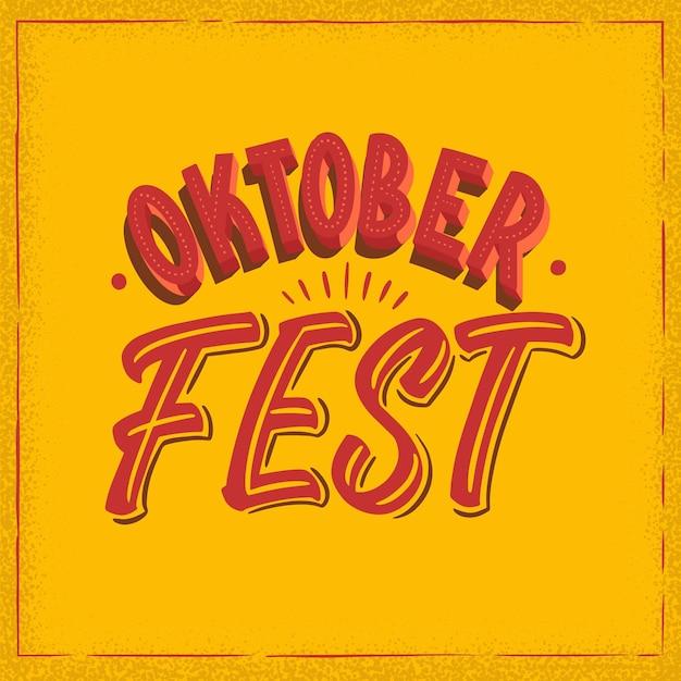 Creatieve oktoberfest evenement belettering Gratis Vector