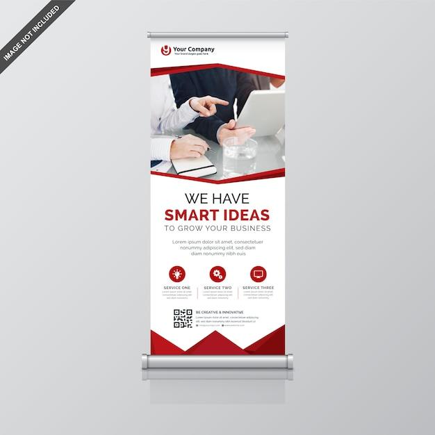 Creatieve oprolbare banner Premium Vector