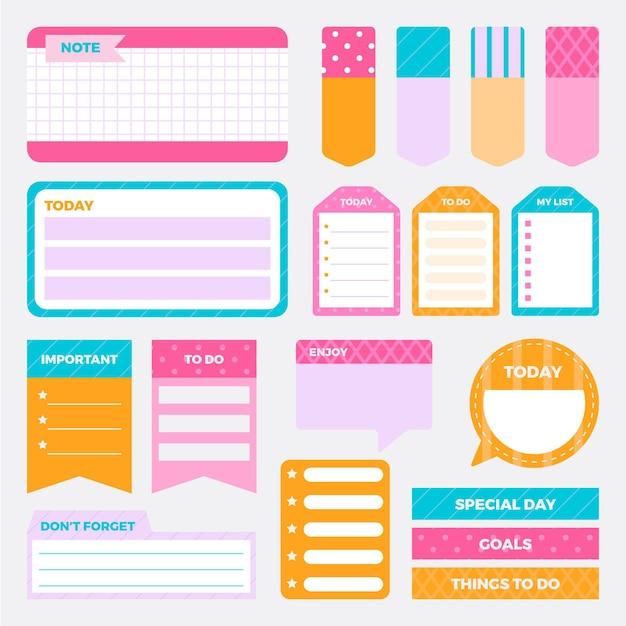 Creatieve planner plakboekcollectie Premium Vector