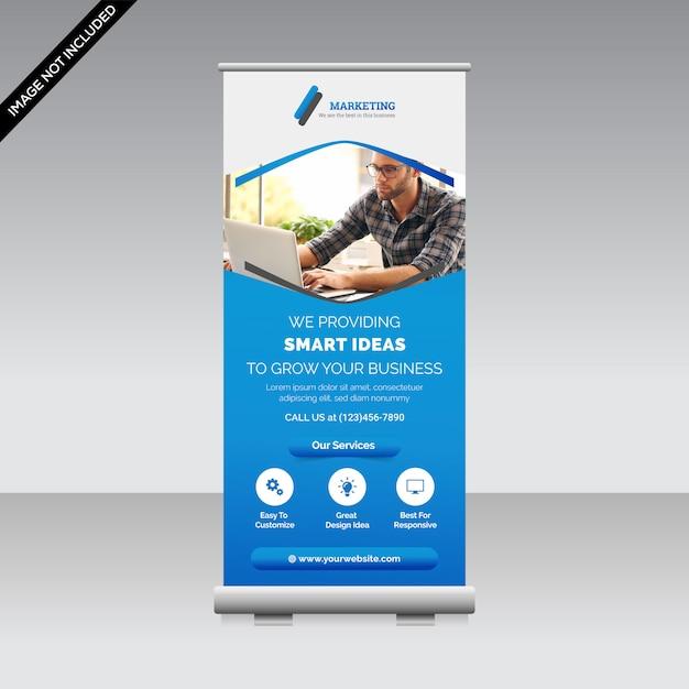Creatieve roll-up banner sjabloon premium Premium Vector