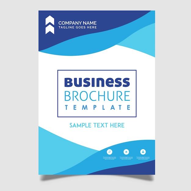 Creatieve vector brochureontwerpen Gratis Vector