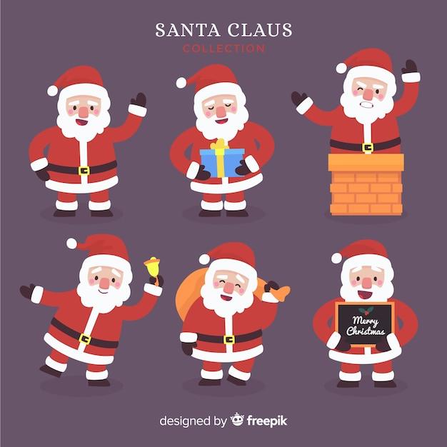 Creatieve verzameling santa-tekens Gratis Vector