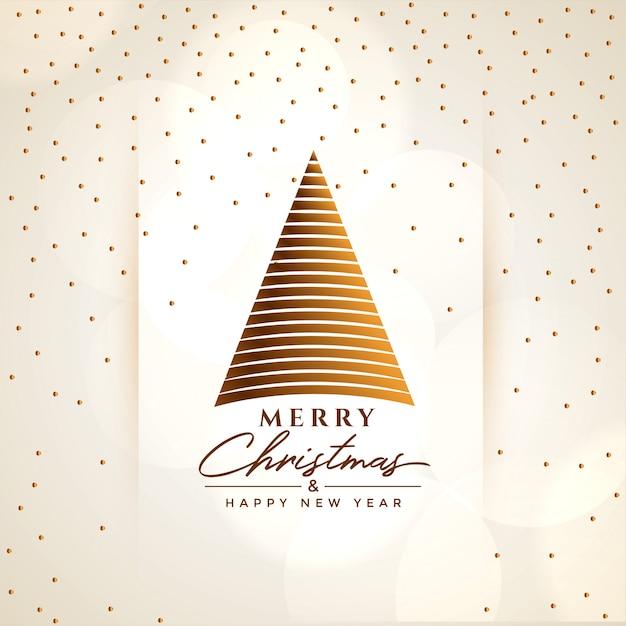 Creatieve vrolijke de groetachtergrond van de kerstboom Gratis Vector