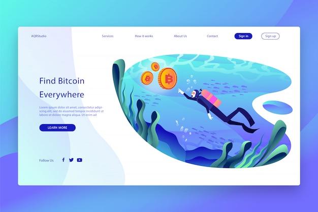 Creatieve webpagina sjabloon Premium Vector