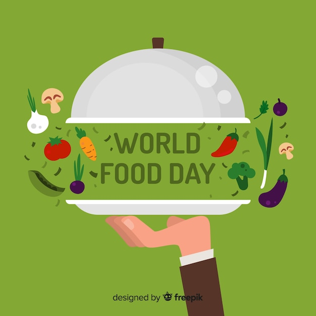 Creatieve wereld eten dag achtergrond Gratis Vector