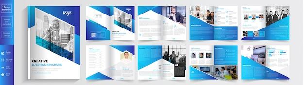 Creatieve zakelijke brochure sjabloon. . Premium Vector