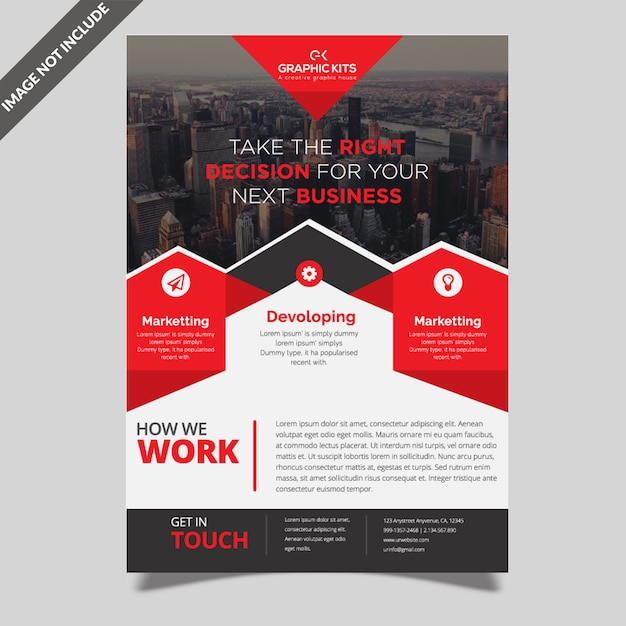 Creatieve zakelijke flyer-sjabloon Premium Vector