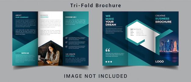 Creatieve zakelijke gevouwen brochure Premium Vector