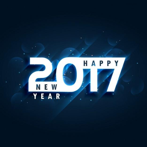 creative 2017 Gelukkig Nieuwjaar wenskaart ontwerp Gratis Vector