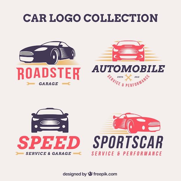 Creative auto logo pack Premium Vector