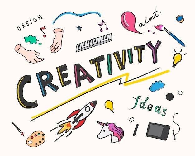 Creativiteit en innovatie concept illustratie Gratis Vector
