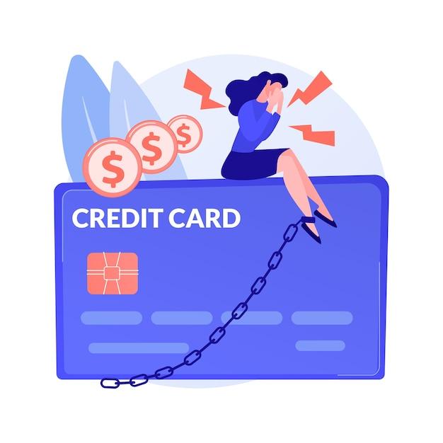 Creditcard abstract concept illustratie Gratis Vector