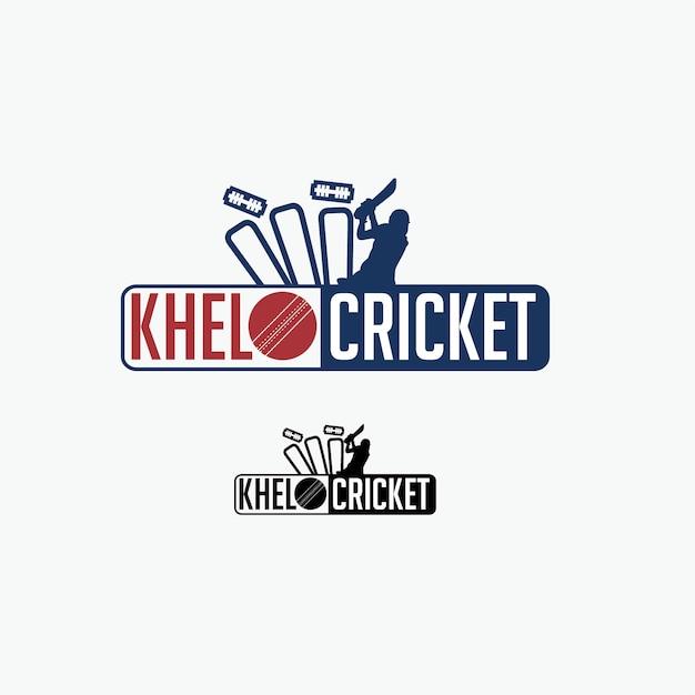 Cricket logo Premium Vector