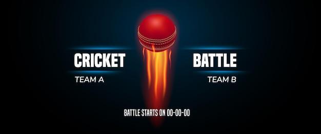 Cricket spel achtergrond, afbeelding. Premium Vector