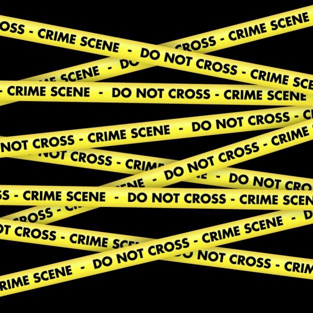 Crime scene tape achtergrond Gratis Vector