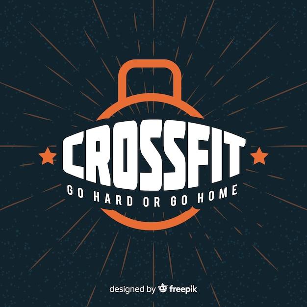 Crossfit motiverende belettering: ga hard of ga naar huis Gratis Vector